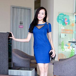 Đầm Jean Cách Điệu