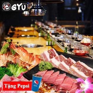 Gyu House Times City - Buffet Nướng Lẩu Nhật Hàn, Free Pepsi