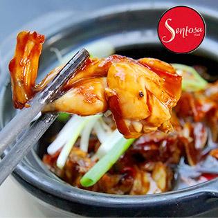 Combo 2 Phần Cháo Ếch Singapore + 2 Ly Coca Tại Sentosa Food