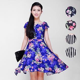 Đầm Linen In Hoa Cao Cấp