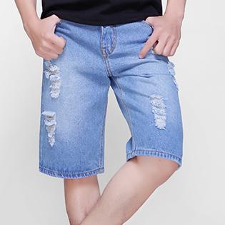 Quần Short Jeans Wash Thời Trang