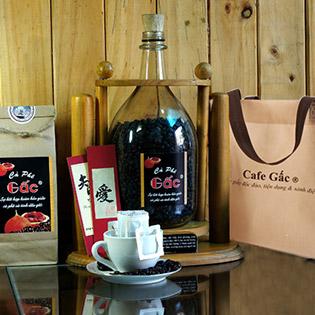 2 Gói Cafe Gấc  - Tặng Kèm Túi Vải Không Dệt