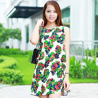 Đầm Oversize Họa Tiết Hoa