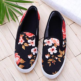 Giày Slip On Hoa Thời Trang