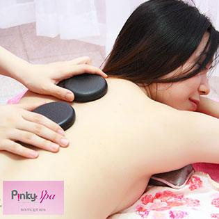 Massage Body Đá Nóng Và Tắm Dưỡng Trắng Mịn Cám Gạo Tại Pinky Spa