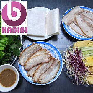 Đặc Sản Bánh Tráng Cuốn Thịt Heo Cho 2N Tại Nhà Hàng Nướng Việt
