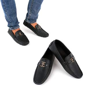Giày Lười Nam Khuyên Ngang Lịch Lãm