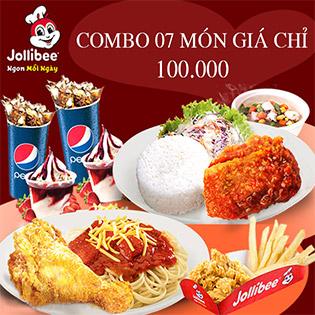 Jollibee Combo 07 Món Siêu Ngon Cho 02 Người - Hơn 60 Chi Nhánh Toàn Quốc