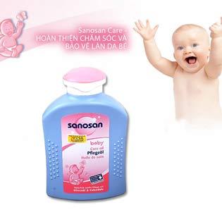 Tinh Dầu Dưỡng Cho Bé Sannosan Baby Care Oil