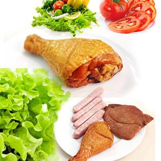 Combo Xúc Xích ARABIKI + Thịt Heo Nướng Hun Khói + Đùi Gà Hun Khói Cao Cấp Của Nhãn Hiệu CHEF MEAT Do Công Ty Gourmet Food Phân Phối Độc Quyền.