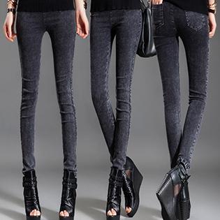 Quần Legging Giả Jeans Dày