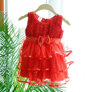 Đầm Voan Galy Cho Bé Gái
