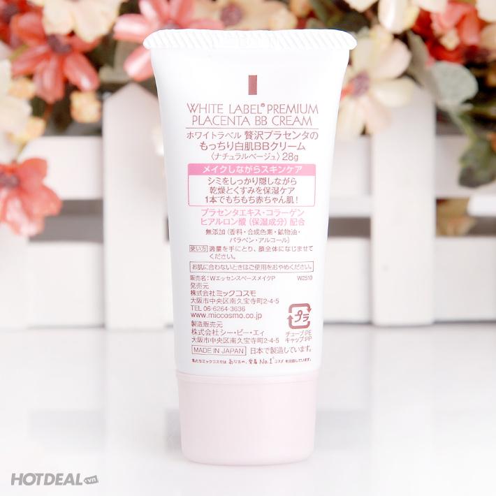 Premium Placenta BB Cream Dưỡng Da Trắng Mịn Giàu Dưỡng Chất