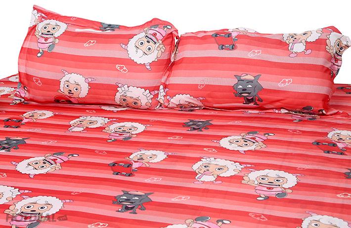Drap Thun Cao Cấp Hình Chú Cừu Năng Động