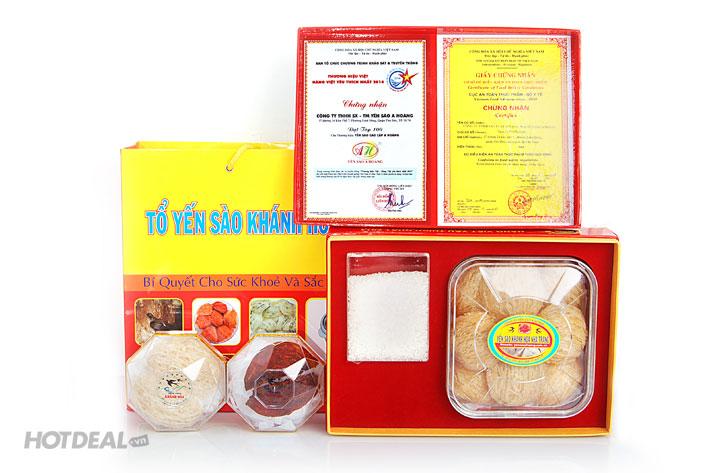 Yến Sào A Hoàng 100gr + 1 Tai Yến Huyết + 1 Tai Yến Thiên Nhiên
