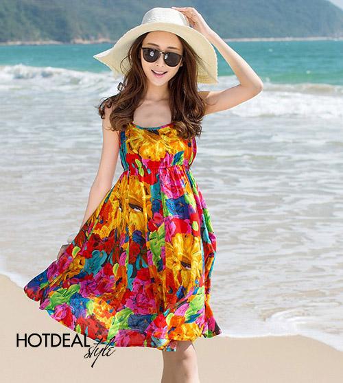 Đầm Voan Hoa Mùa Hè