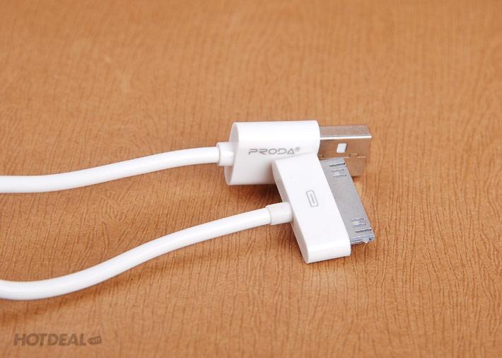 Cáp Sạc Cho iPhone 4/4S Chính Hãng Proda