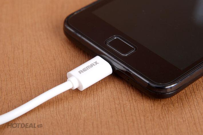 Cáp Micro Remax Chính Hãng Cho Smartphone Samsung, LG, HTC...