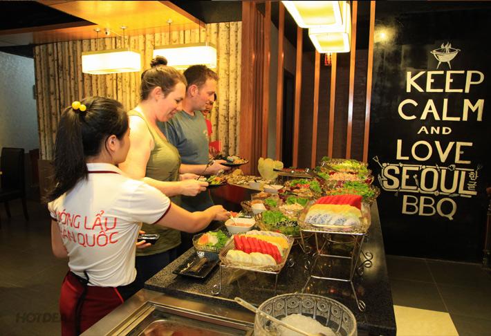 Buffet Trưa Nướng Và Lẩu Hàn Quốc Tại NH Seoul BBQ