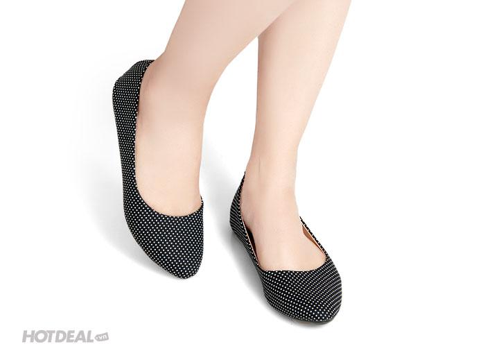 Giày Búp Bê Họa Tiết Chấm Bi Khải Nam 2015 Bảo Hành 6 Tháng.