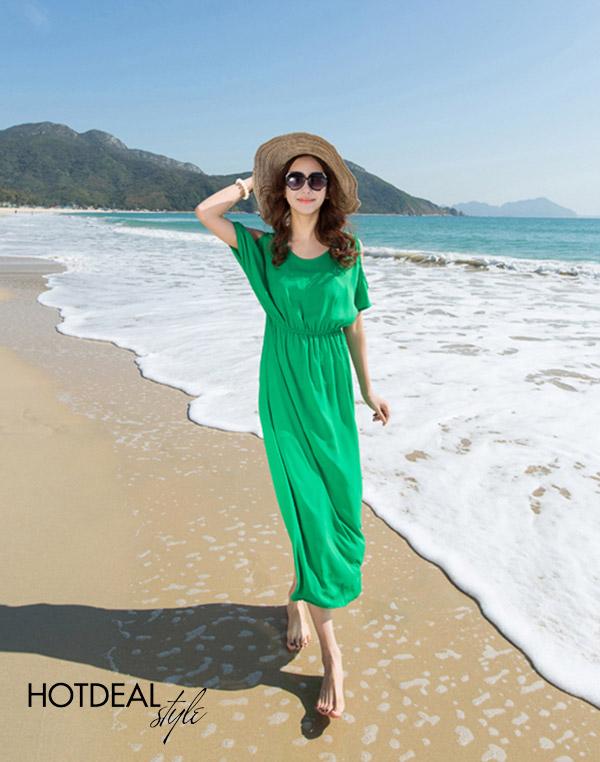 Đầm Maxi Luna Bãi Biển