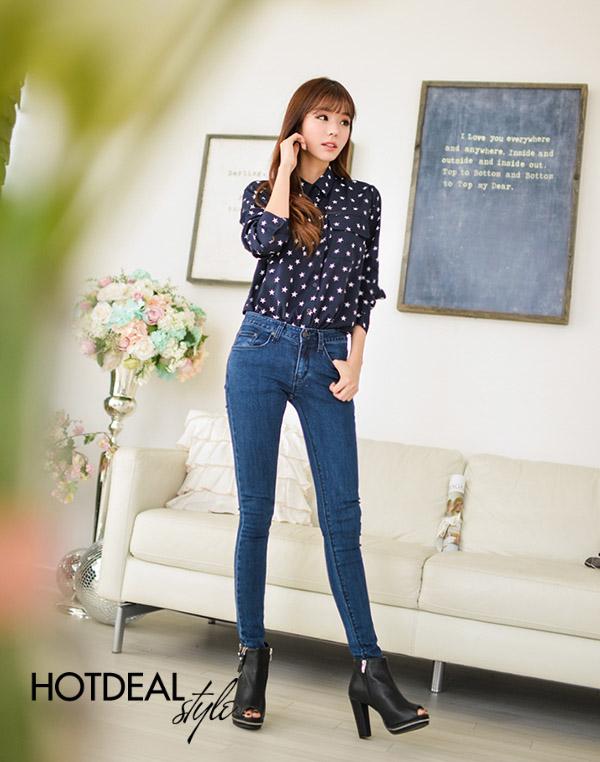 Quần Jeans Nữ Lason-J Xanh Đậm