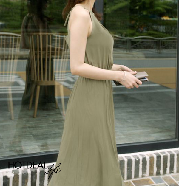 Đầm Maxi Yếm
