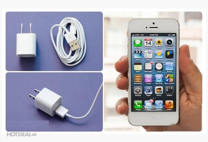 Bộ Cáp Sạc Chuẩn Kèm Tai Nghe Iphone 5/5s Siêu Hot