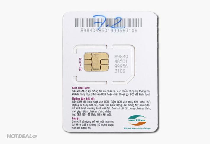 Sim 3G Viettel Khuyến Mại 36G Liên Tục Trong 12 Tháng