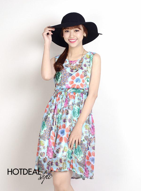 Đầm Voan Mùa Hè Lady