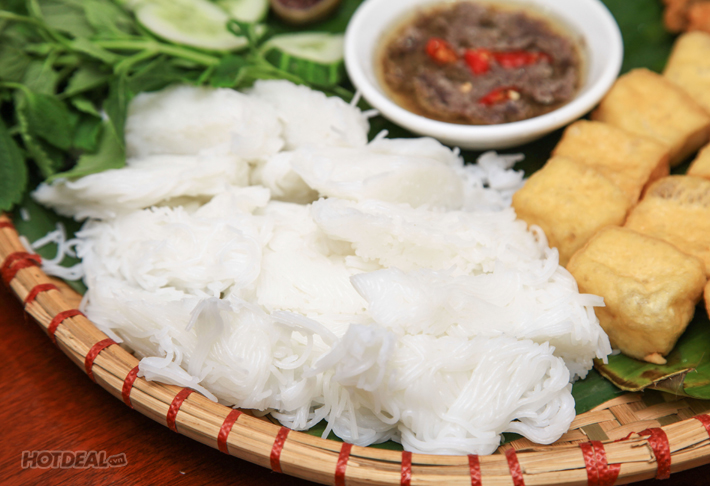 Combo Bún Đậu Mắm Tôm Đầy Đặn+ Bánh Tráng Cuốn Thịt Heo+2 Trà Sữa