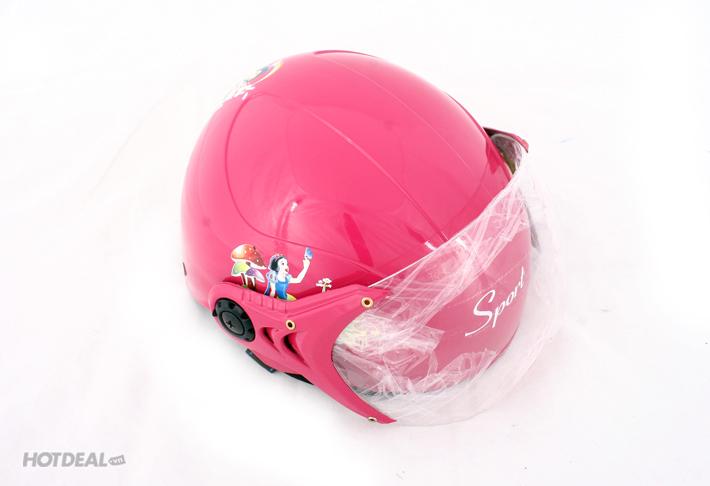 Mũ Bảo Hiểm Trẻ Em Sport Có Kính