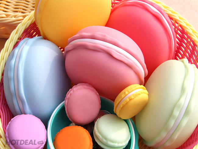 Combo 2 Hộp Nhựa Hình Bánh Macaron