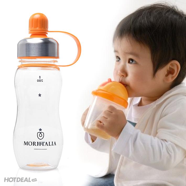 Bình Uống Nước Thể Thao Cho Bé Moriitalia 300ml -1036