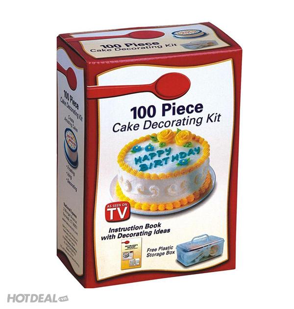 Bộ 100 Món Décor Bánh Kem