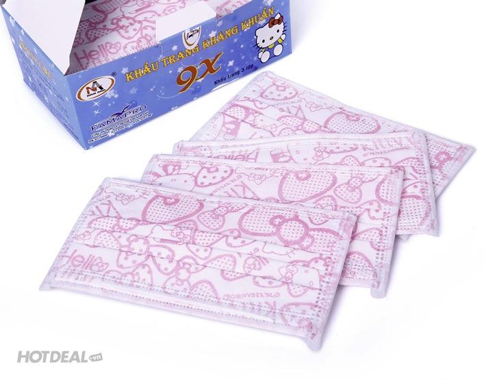 Combo 2 Hộp Khẩu Trang Y Tế Hình Hello Kitty/ Đôrêmon
