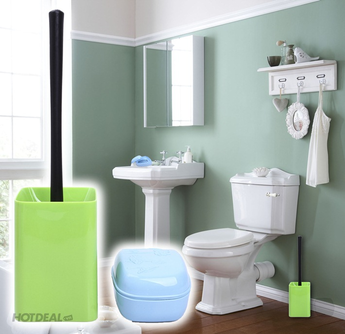 Combo Dụng Cụ Vệ Sinh Toilet Và Hộp Đựng Xà Phòng