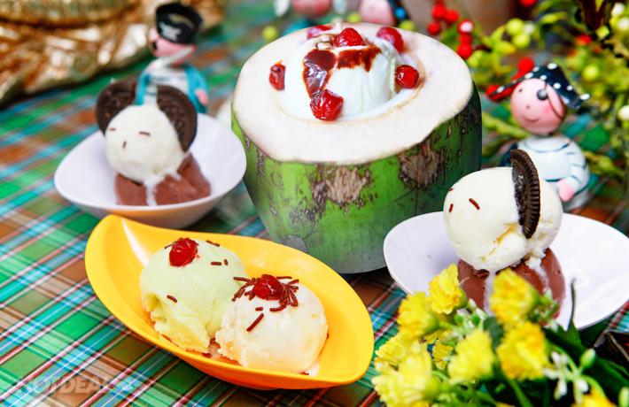 Set Kem Trái Dừa Tươi Tại Lassi – 5 Trần Đại Nghĩa