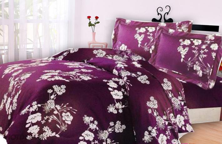 Drap Hoa Cotton Xoan Nhung Sang Trọng BST2