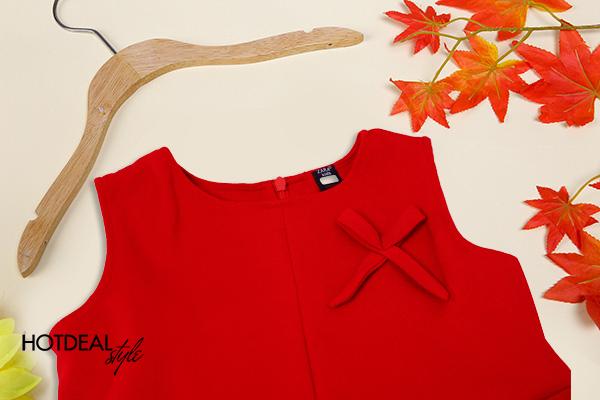 Đầm Nơ Ngực Đáng Yêu Zara Kid Hàng Xuất Cho Bé Gái