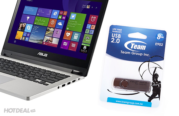 USB Taiwan Team Group INC E902 8GB - BH 5 Năm