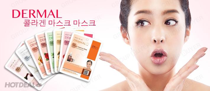 Combo 10 Mặt Nạ Dưỡng Da Dermal Nhập Khẩu Hàn Quốc