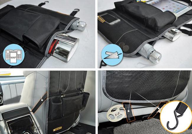 Túi Đựng iPad, Vật Dụng Trên Xe Hơi 6 Ngăn Có Thể Gấp Lại
